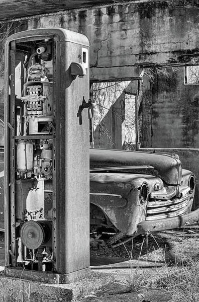 Photograph - Last Chance For Gas Black And White by JC Findley