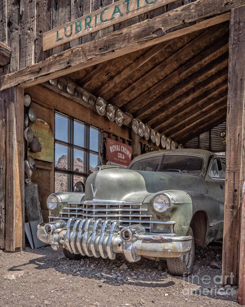 Photograph - Last Chance Gas Vintage Car Abandoned Gas Station by Edward Fielding