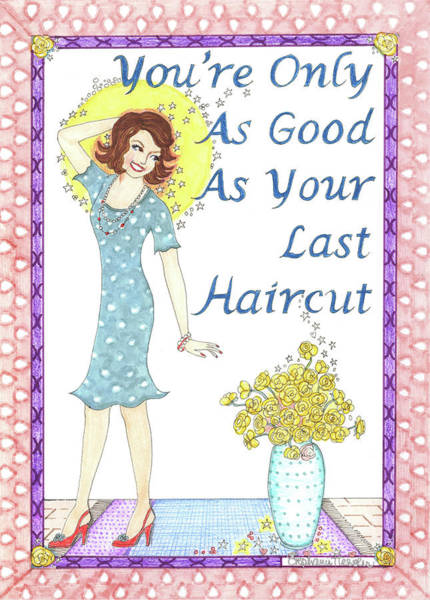 Hair Stylist Mixed Media - Last Haircut by Stephanie Hessler