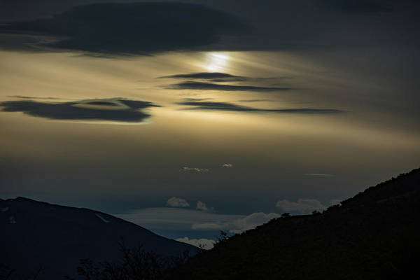 Photograph - Last Light And Cloud by Mark Hunter