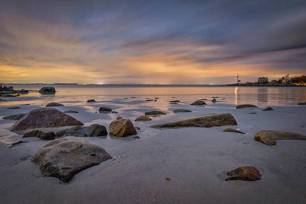 Photograph - Last Light At Annisquam Harbor Light by Kristen Wilkinson