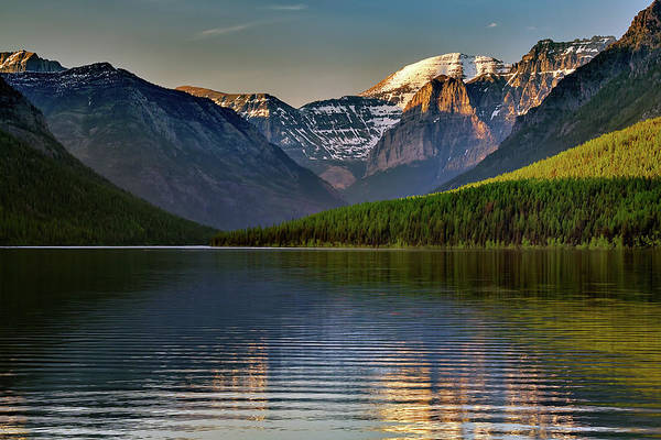Wall Art - Photograph - Last Light At Bowman Lake by Rick Berk