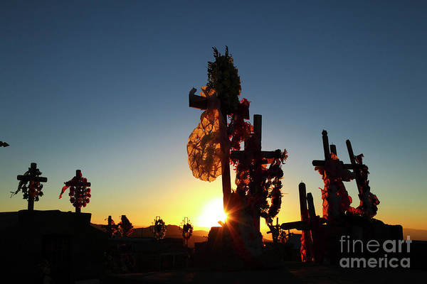 Photograph - Last Light At Socaire Cemetery Chile by James Brunker