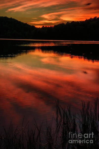 Photograph - Last Light At The Lake by Thomas R Fletcher