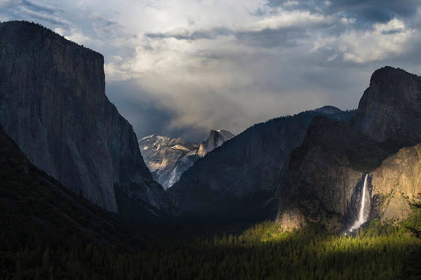 Wall Art - Photograph - Last Light At Yosemite Tunnel View  by Larry Marshall