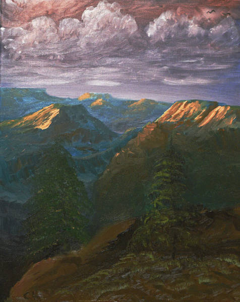 Painting - Last Light Of The Grand Canyon by Chance Kafka