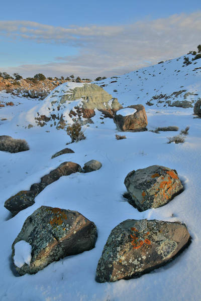 Photograph - Last Light On Colorful Boulders Of Bentonite Site by Ray Mathis