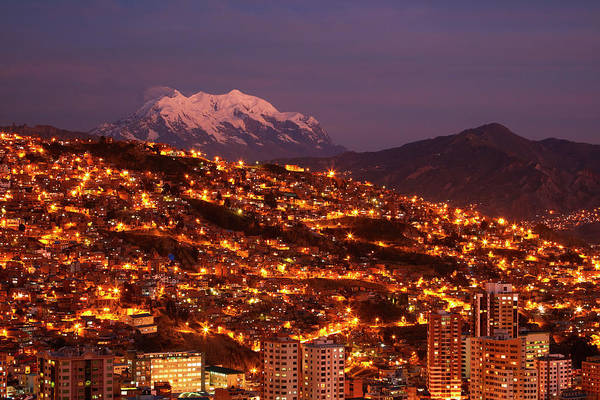 Senora Photograph - Last Light On Illimani (6438m/21,122ft by David Wall
