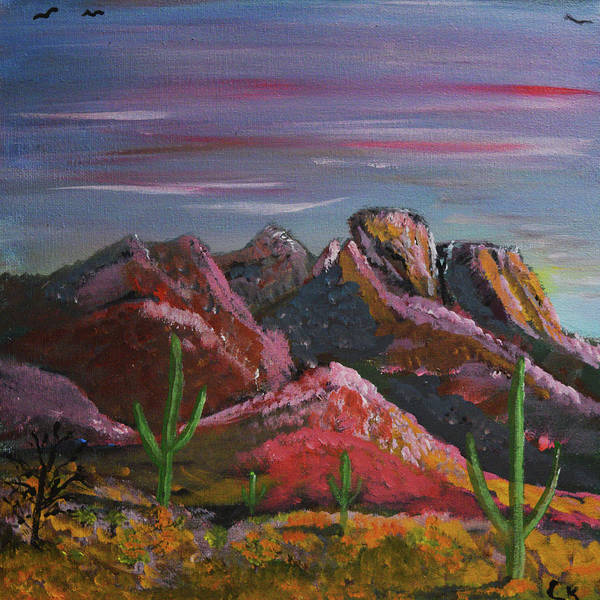 Painting - Last Light On The Santa Catalinas  by Chance Kafka