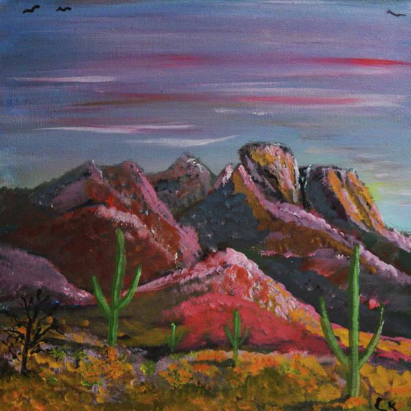 Painting - Last Light On The Santa Catalinas  by Chance Kafka