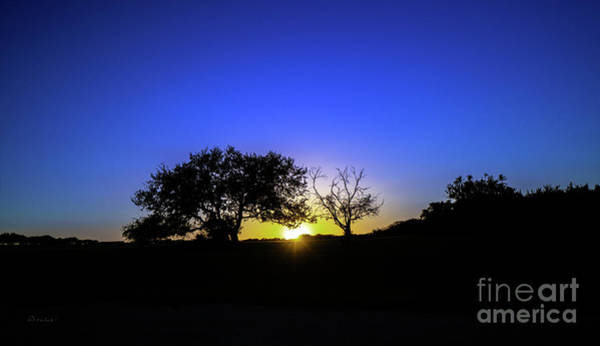 Last Light Texas Hill Country Paradise Canyon Sunset 8053a1 Art Print