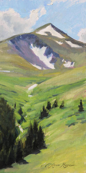 Wall Art - Painting - Last Of The Snow, Guanella Pass by Anna Rose Bain