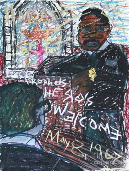 Mixed Media - Last Prophets A Hero's Welcome by Odalo Wasikhongo