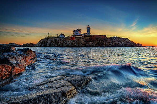 Photograph - Last Sunrise Of Autumn At The Nubble by Rick Berk
