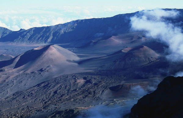 Haleakala Crater Photograph - Late Afternoon Crater Overview by John Elk