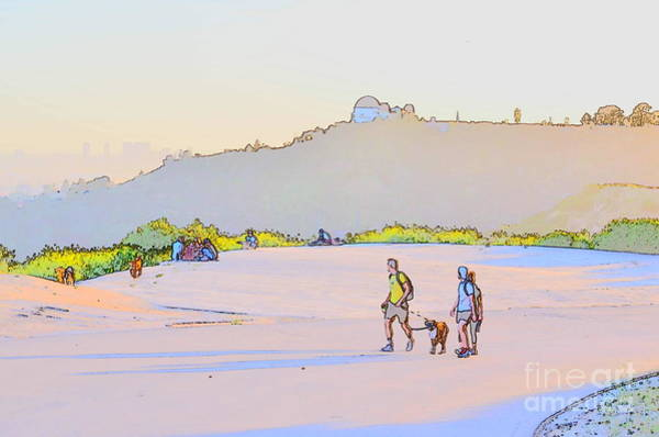 Wall Art - Photograph - Late Afternoon Hike - Inspired By Wayne Thiebaud by Blue Pearl Designs