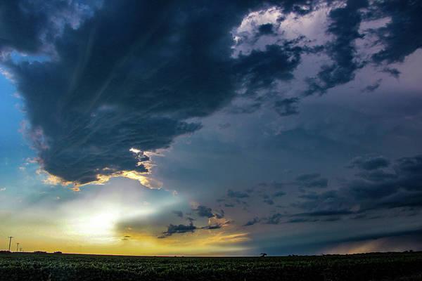 Photograph - Late Afternoon Nebraska Thunderstorms 009 by Dale Kaminski