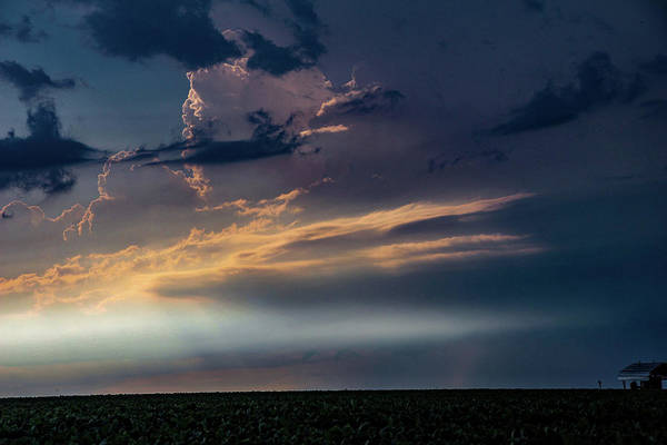 Photograph - Late Afternoon Nebraska Thunderstorms 011 by Dale Kaminski