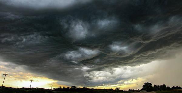 Photograph - Late Afternoon Nebraska Thunderstorms 025 by Dale Kaminski