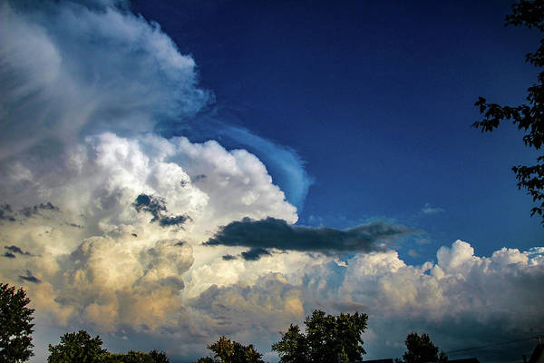 Photograph - Late Afternoon Nebraska Thunderstorms 070 by Dale Kaminski