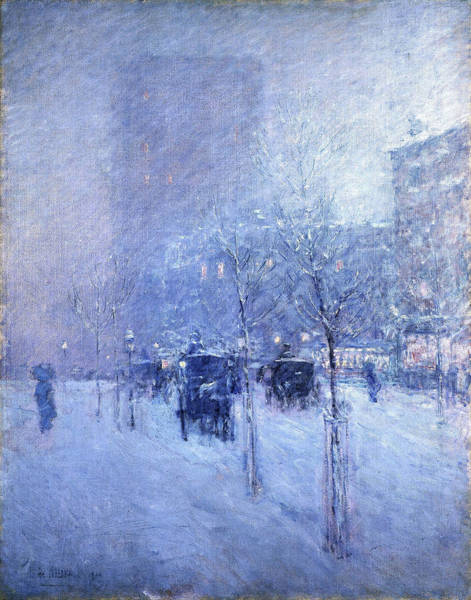 Avenue Painting - Late Afternoon, New York, Winter - Digital Remastered Edition by Frederick Childe Hassam