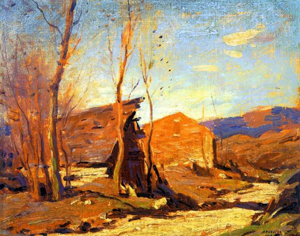 Wall Art - Painting - Late Autumn Afternoon by George Bruestle