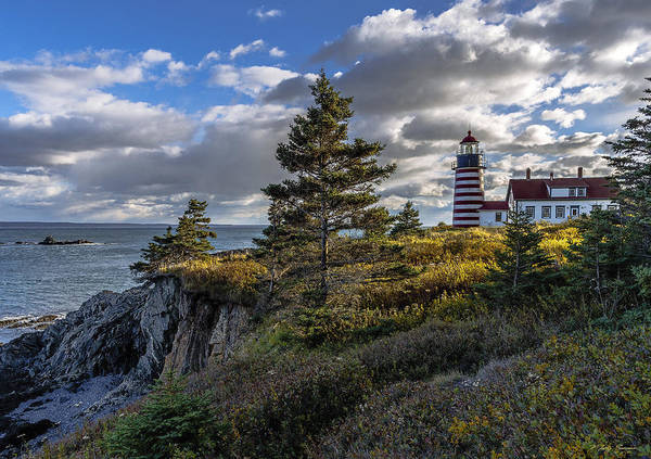 Photograph - Late Autumn Light At West Quoddy Head Lighthouse by Marty Saccone