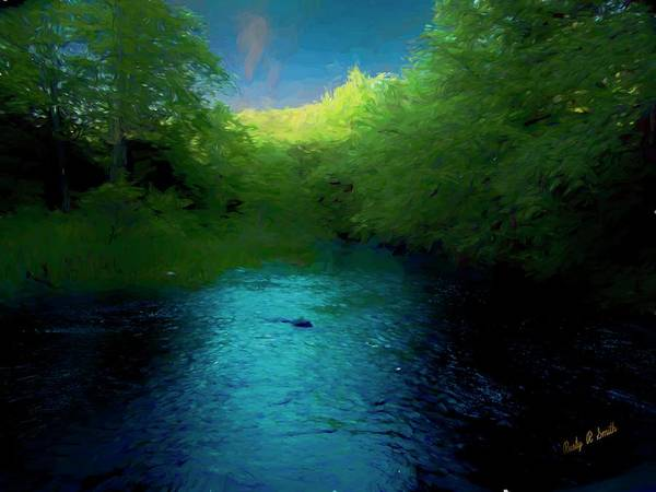 Digital Art - Late Evening On Pristine Trout Stream. by Rusty R Smith
