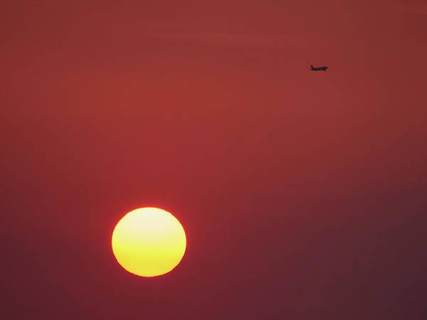Wall Art - Photograph - Late Flight. Rhodes Sunset by Jouko Lehto