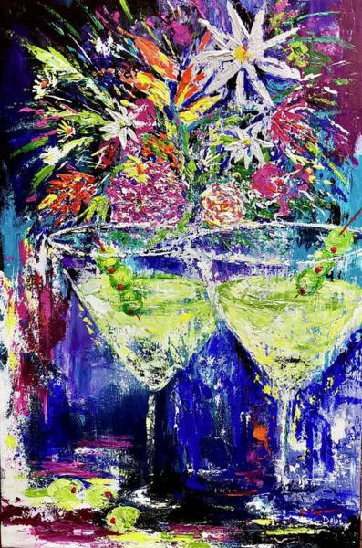 Wall Art - Painting - Late Night Happy Hour by Debi Starr