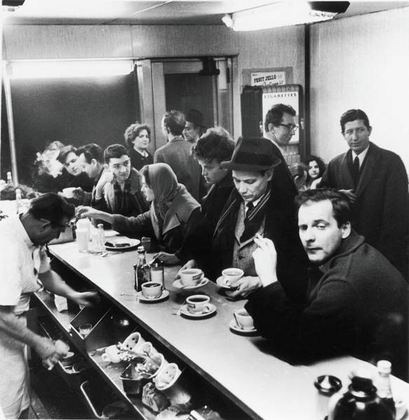 Photograph - Late Night, Rikers Cafe, 1960 by Fred W. McDarrah