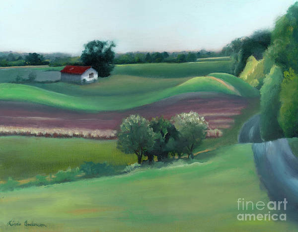 Painting - Late Summer Fields by Linda Anderson