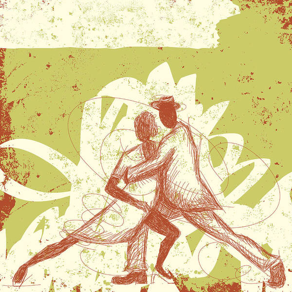 Heterosexual Couple Digital Art - Latin Dancers by Retrorocket