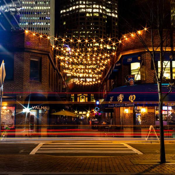Photograph - Latta Arcade Light Trails by Christine Buckley