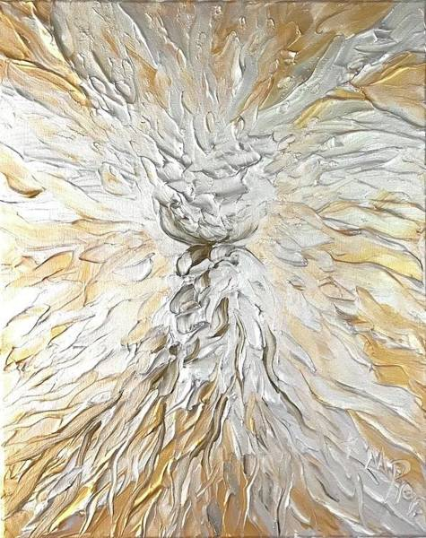 Painting - Latte Stone Of Light by Michelle Pier