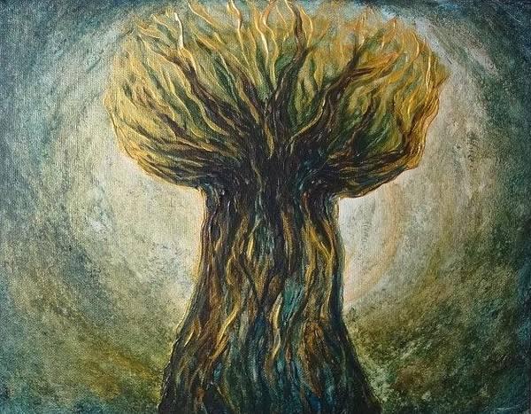 Painting - Latte Stone Taotaomona Tree by Michelle Pier
