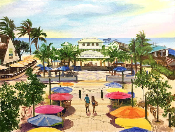 Wall Art - Painting - Lauderdale By The Sea Beach Day by Robert Korhonen