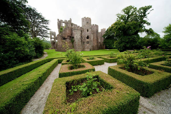 Ground Photograph - Laugharne Castle And Landscaped Grounds by Paul Fletcher