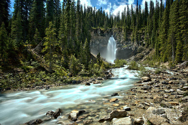 Photograph - Laughing Falls Blue Stream by Adam Jewell
