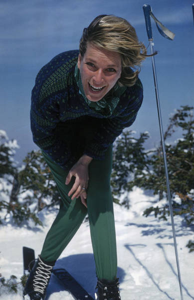 Laughing Photograph - Laughing Skier by Slim Aarons