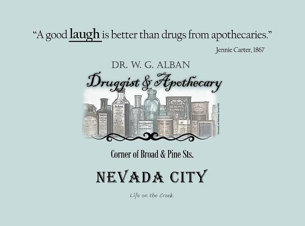 Digital Art - Laughter Is The Best Medicine - Apothecary by Lisa Redfern