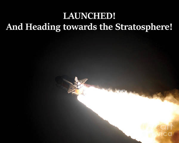 Photograph - Launched And Heading Towards The Stratosphere by G Matthew Laughton
