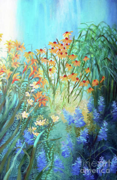 Wall Art - Painting - Laura's Garden One by Sharon Nelson-Bianco