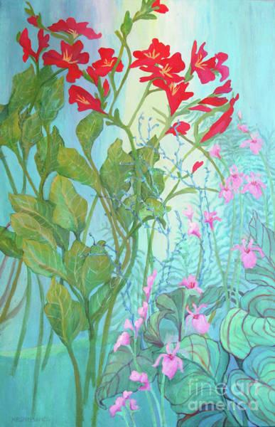 Wall Art - Painting - Laura's Garden Three by Sharon Nelson-Bianco