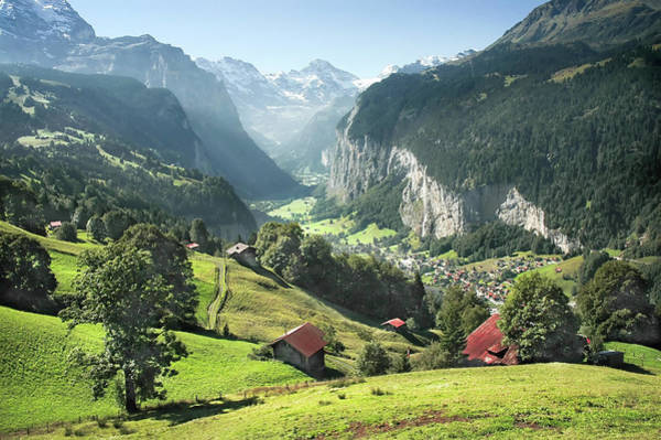 Chalet Photograph - Lauterbrunnental by Gmsphotography