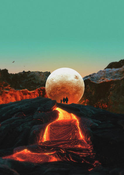 Wall Art - Digital Art - Lava by Fran Rodriguez