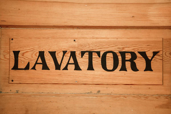Wall Art - Photograph - Lavatory Vintage Sign by Betsy Knapp
