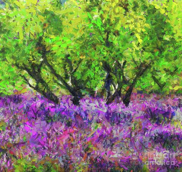 Wall Art - Painting - Lavender And Olive Trees by Dragica Micki Fortuna