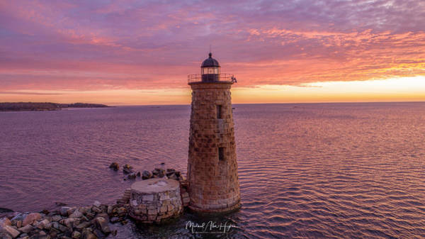 Photograph - Lavender Dreaming Whaleback Lighthouse by Michael Hughes