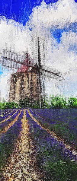 Painting - Lavender Fields - 19 by Andrea Mazzocchetti